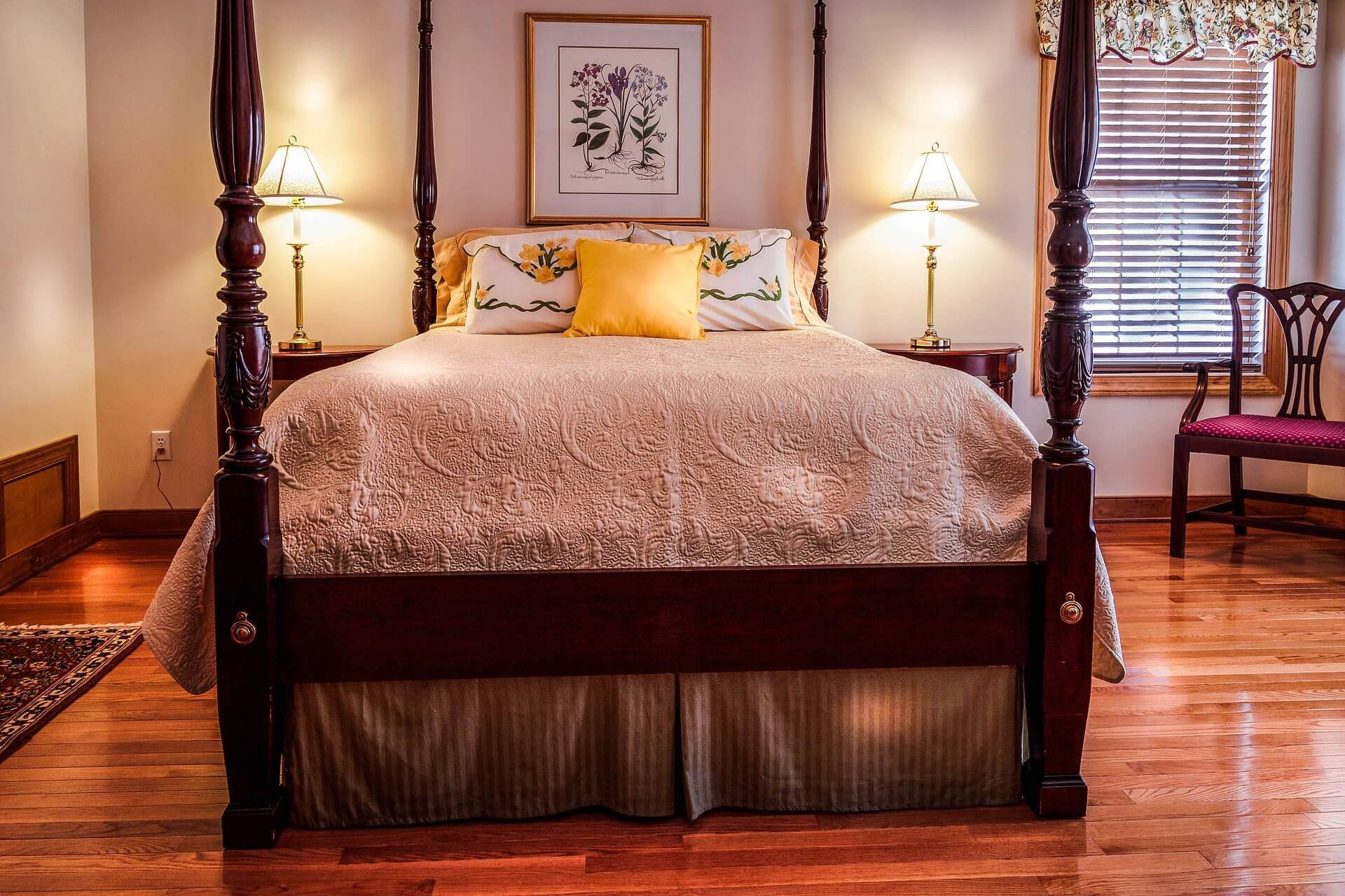 Bed Skirt to Hide Clutter