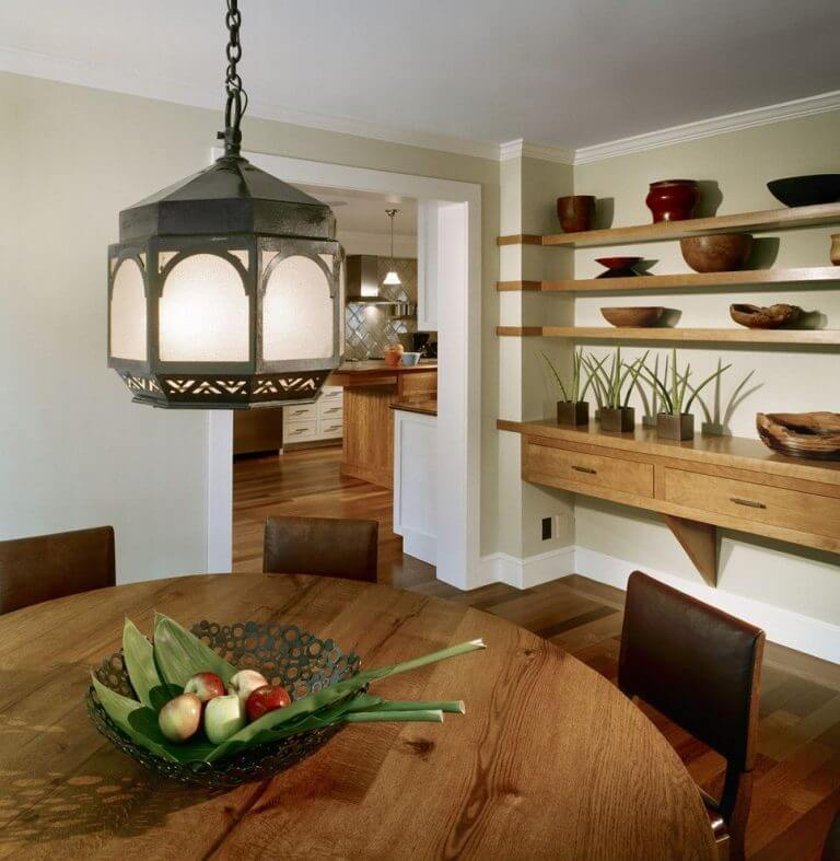 staggering floating shelves decorating ideas for dining room 768x787 1