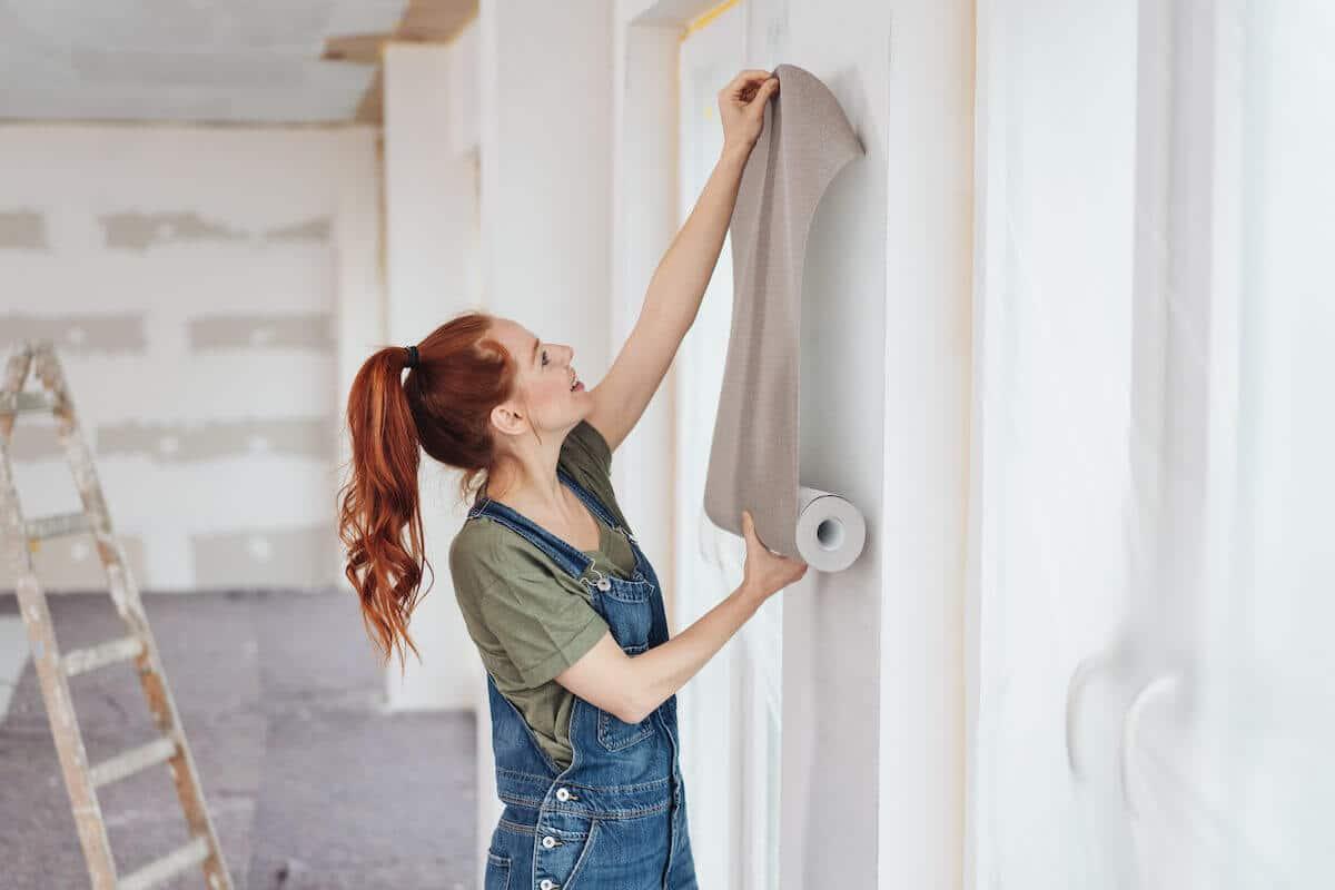 DIY wallpaper instructions