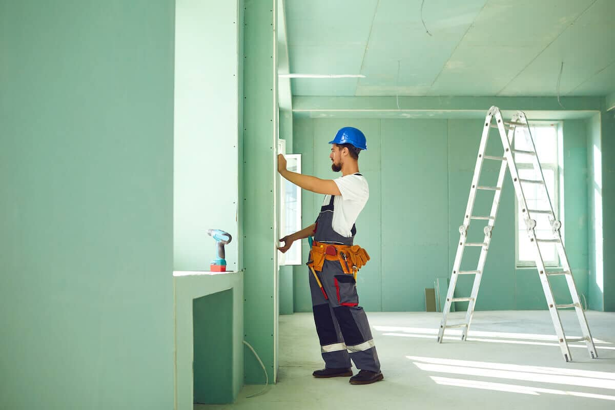 drywall hanging process